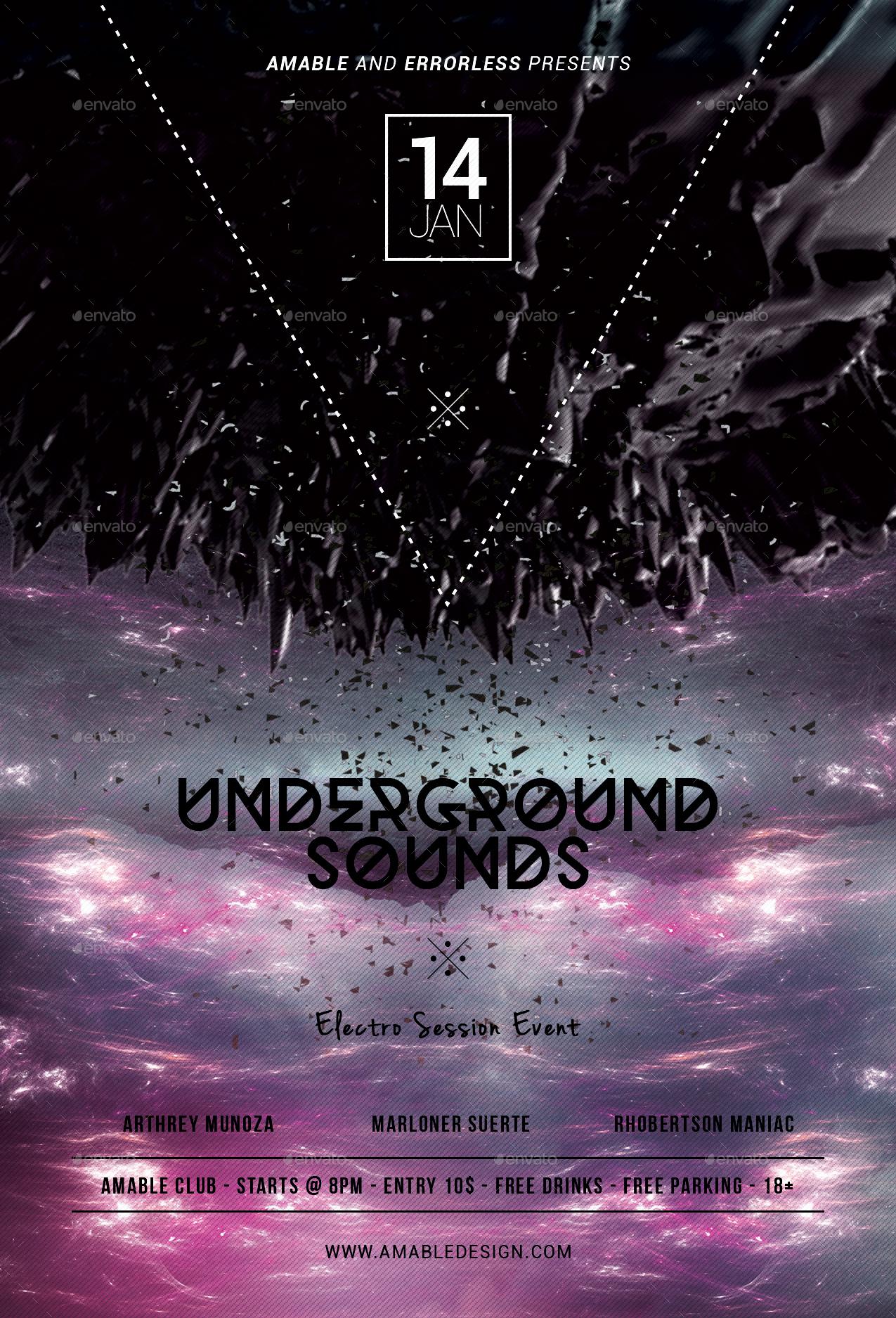 Underground Sounds Flyer