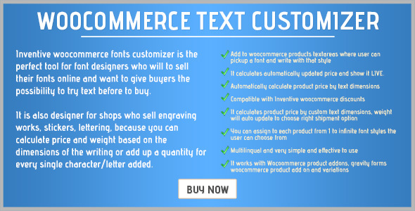 Inventive woocommerce text customizer - CodeCanyon Item for Sale