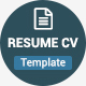 The Resume Cv - GraphicRiver Item for Sale