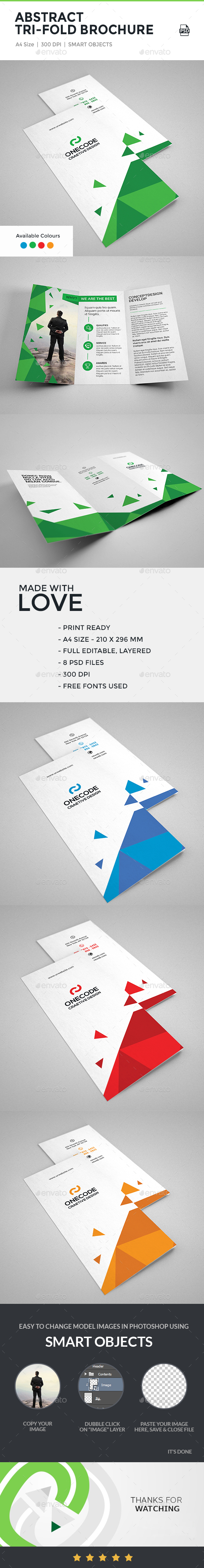 Abstract Tri-Fold Brochure - Corporate Brochures