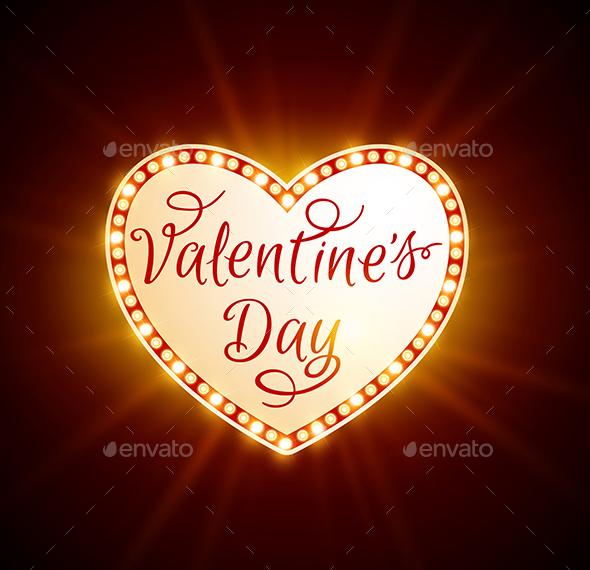 Retro Shining Heart  - Valentines Seasons/Holidays