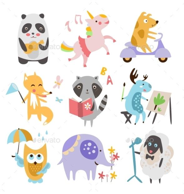Childish Animals Set - Animals Characters
