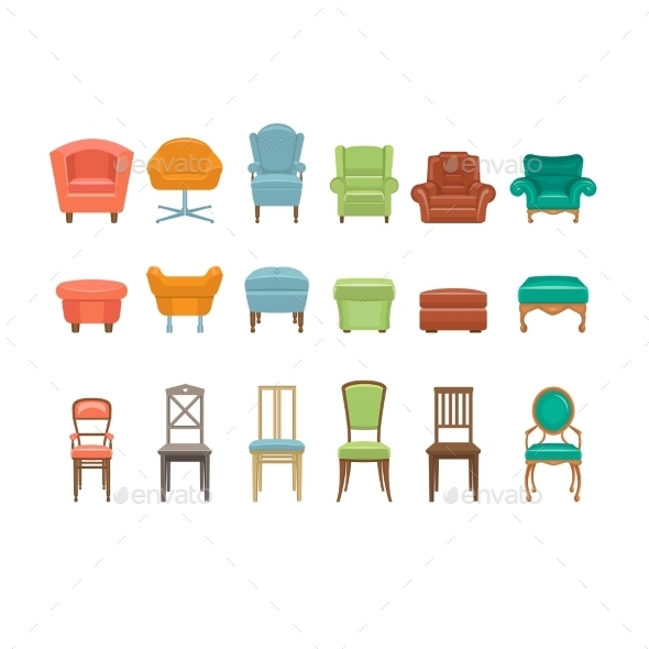 Furniture for Sitting - Miscellaneous Vectors