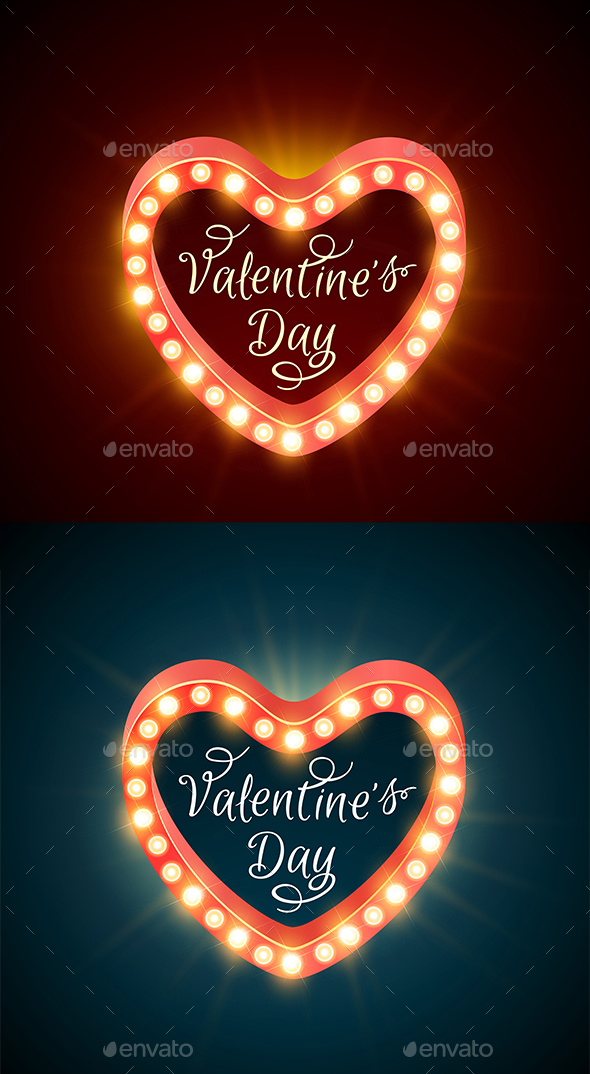 Retro Banners for Valentine's Day - Valentines Seasons/Holidays