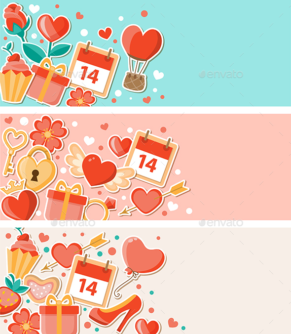 Valentine Decorative Banners - Valentines Seasons/Holidays
