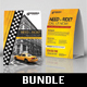2 Taxi Cab Drive Table Tent Bundle - GraphicRiver Item for Sale