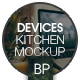 7 psd | Laptop Screen Kitchen Mockup - GraphicRiver Item for Sale