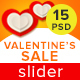 Valentine's Sale Slider - GraphicRiver Item for Sale