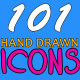 101 Hand Drawn Icons - VideoHive Item for Sale