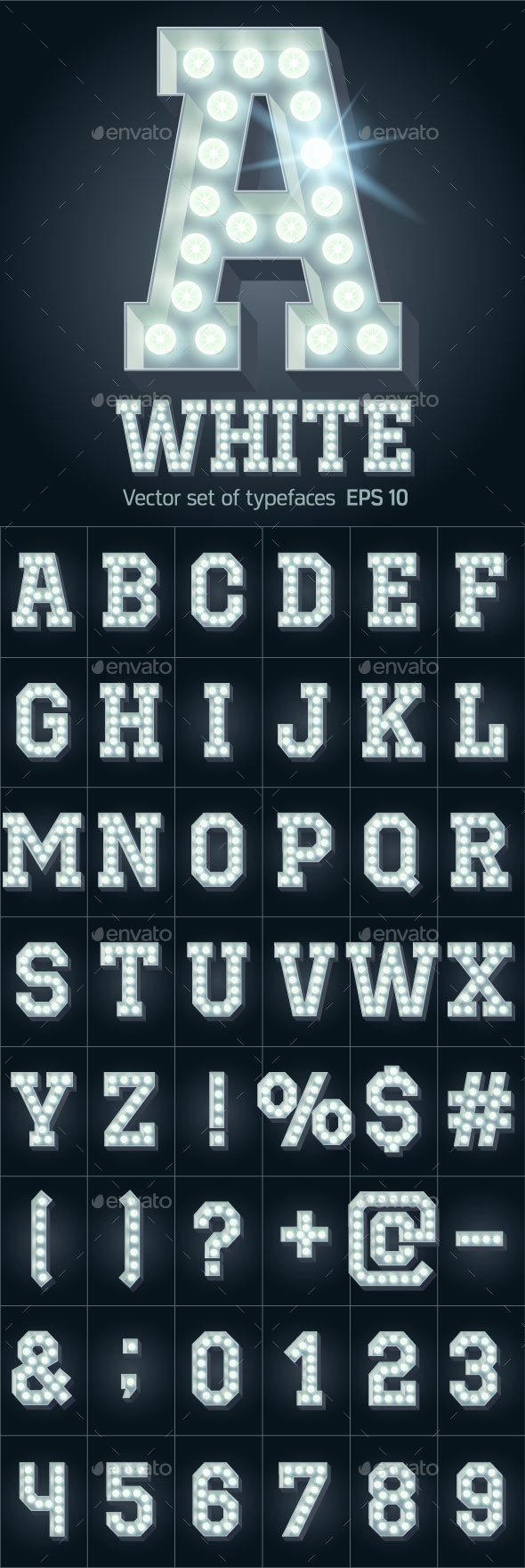 Light Up Cold White Alphabet - Decorative Symbols Decorative