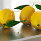 Lemons on chopping-board