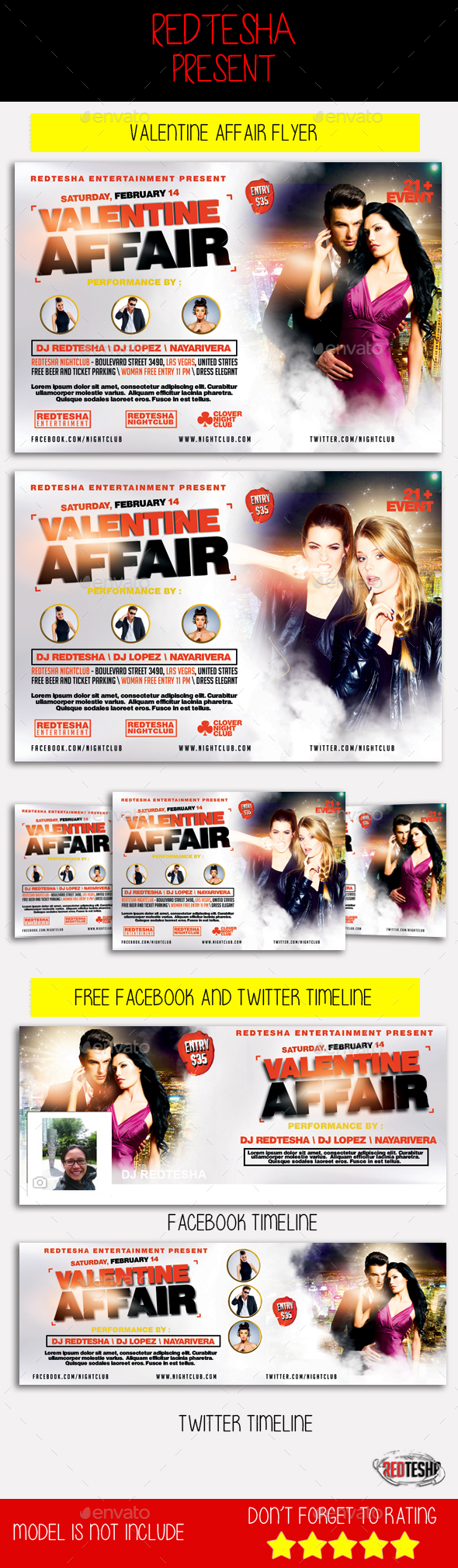Valentine Affair Flyer - Clubs & Parties Events