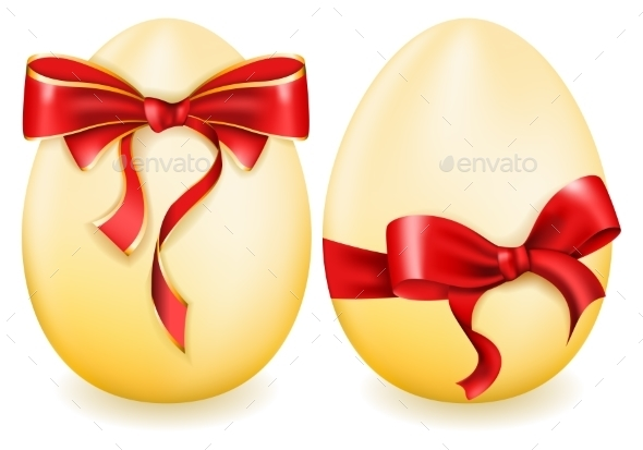 Easter Egg with Bow - Decorative Symbols Decorative