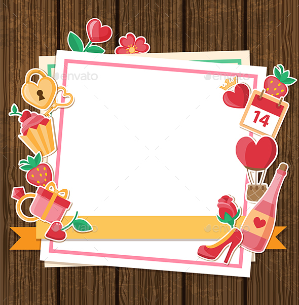 Decorative Background for Valentine's Day - Valentines Seasons/Holidays