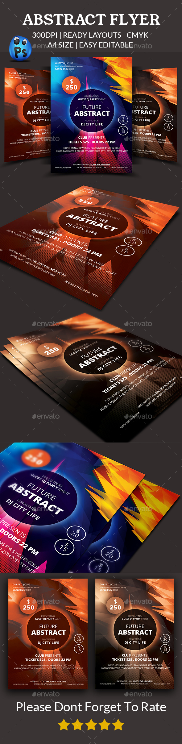 Abstract Flyer Templates - Clubs & Parties Events