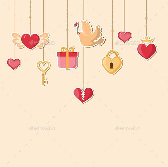 Decorative Background for Valentine's Day - Valentines Seasons/Holidays