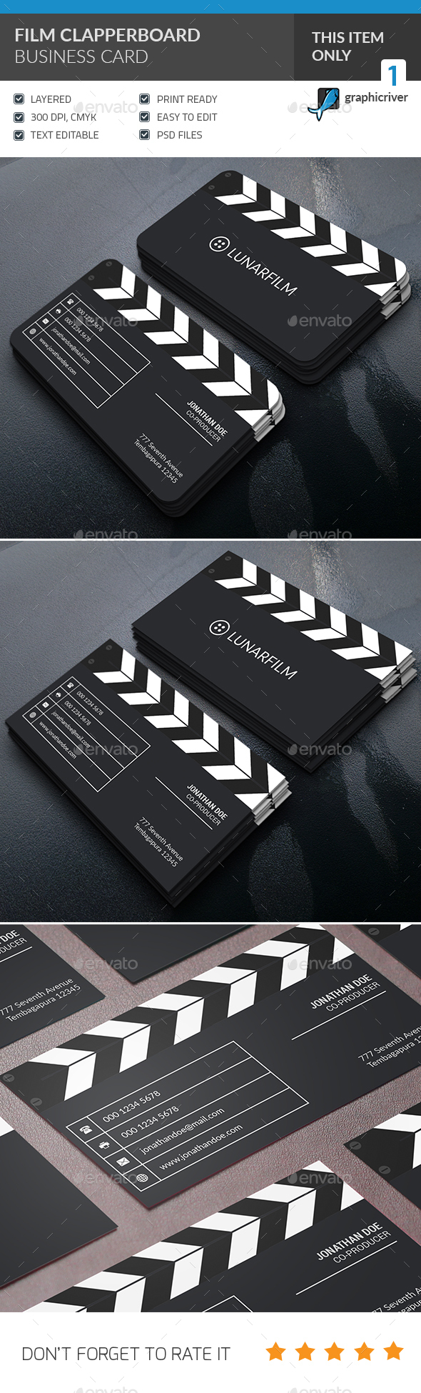 Clipperboard Business Card  - Industry Specific Business Cards