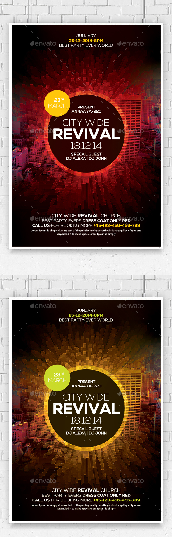 Revival Church Flyer Template  - Church Flyers