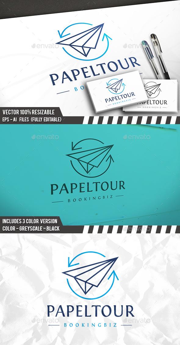 Paper Plane Logo - Symbols Logo Templates
