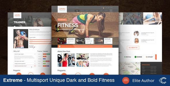 Extreme Gym & Fitness Theme