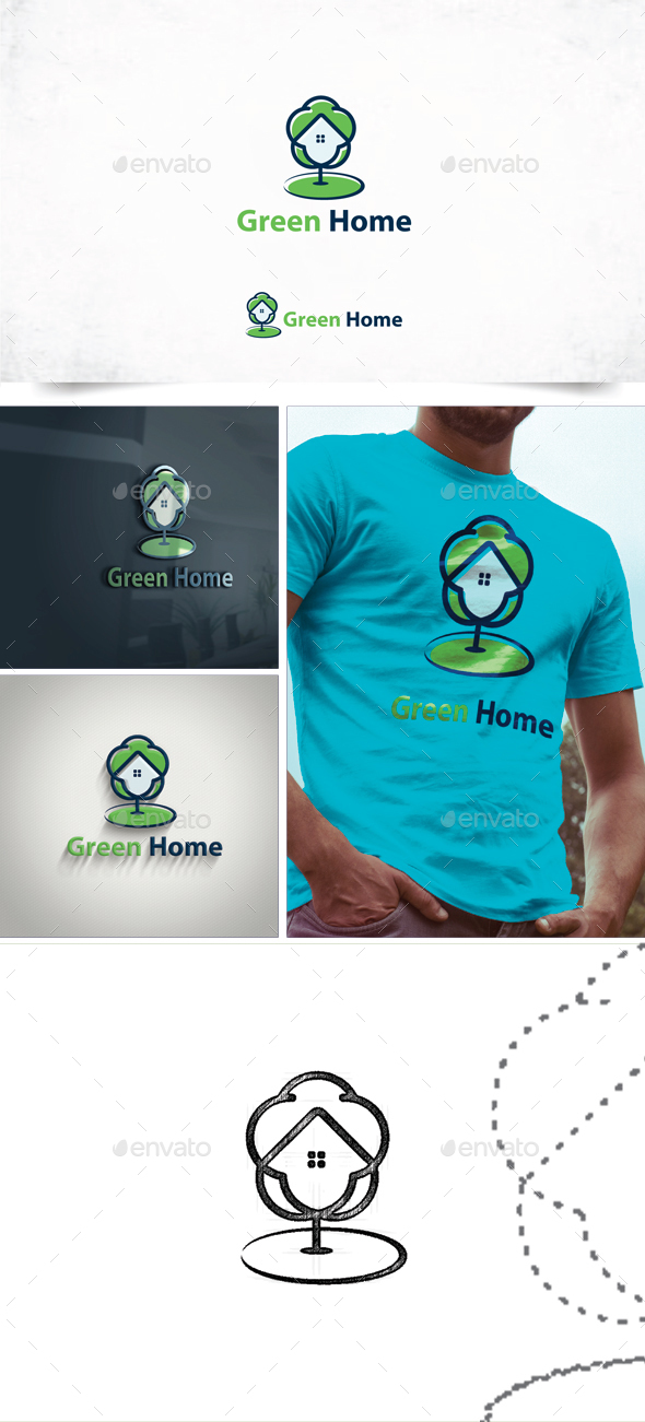 Green Home - Nature Logo Templates