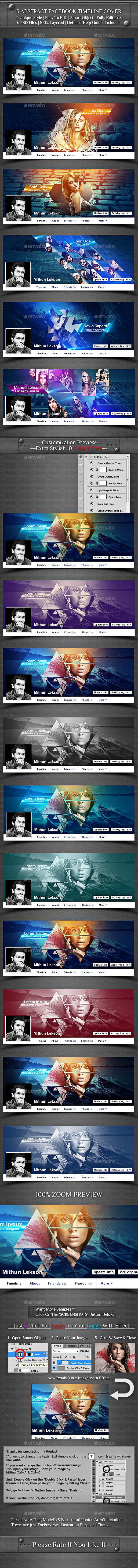 6 Abstract Facebook Timeline Cover - Facebook Timeline Covers Social Media