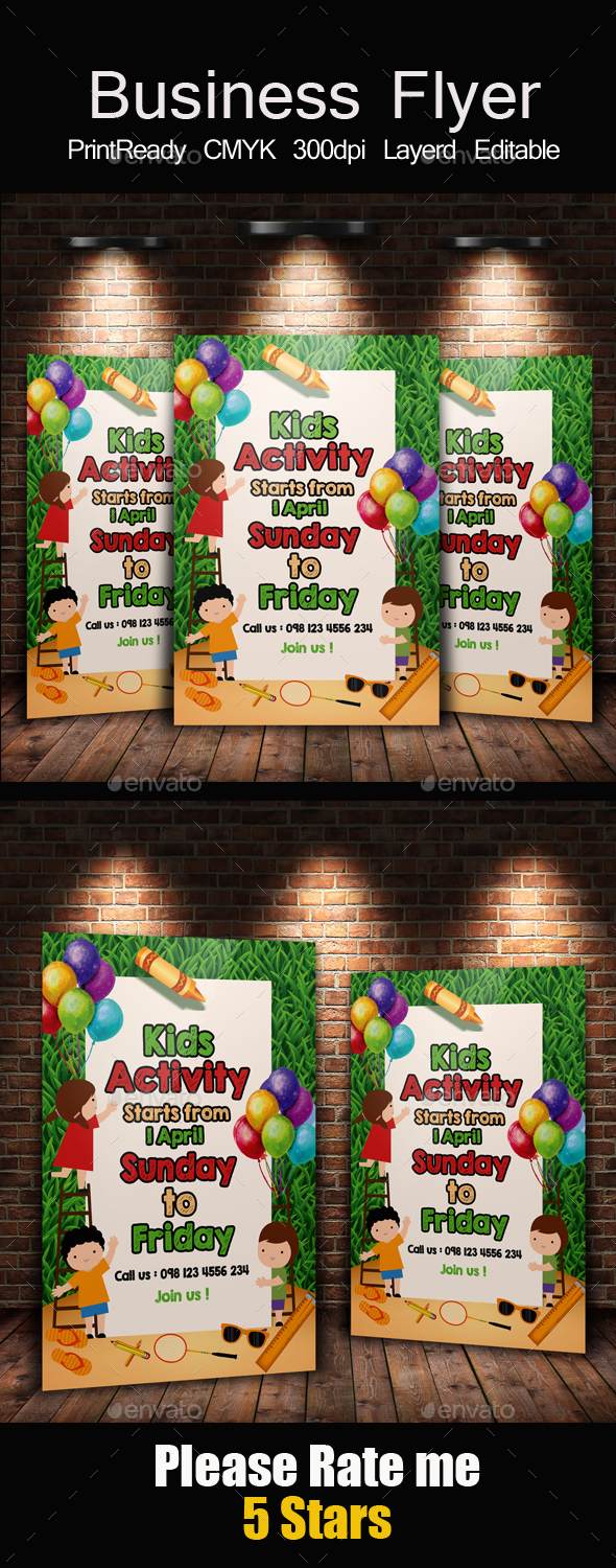 Kids Activity Flyer Templates - Holidays Events