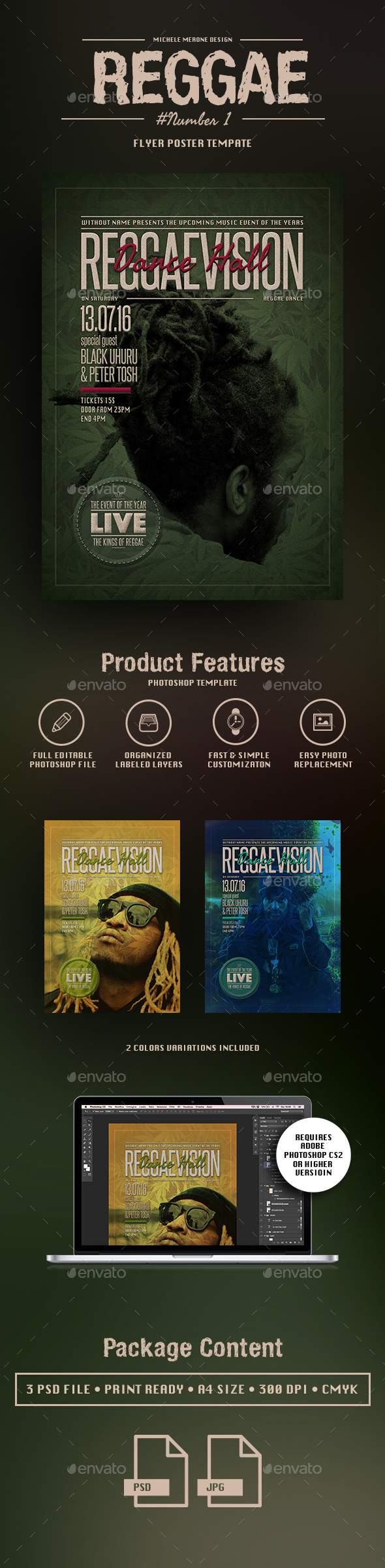 Reggae Flyer/Poster Pack Numb. 1 - Flyers Print Templates