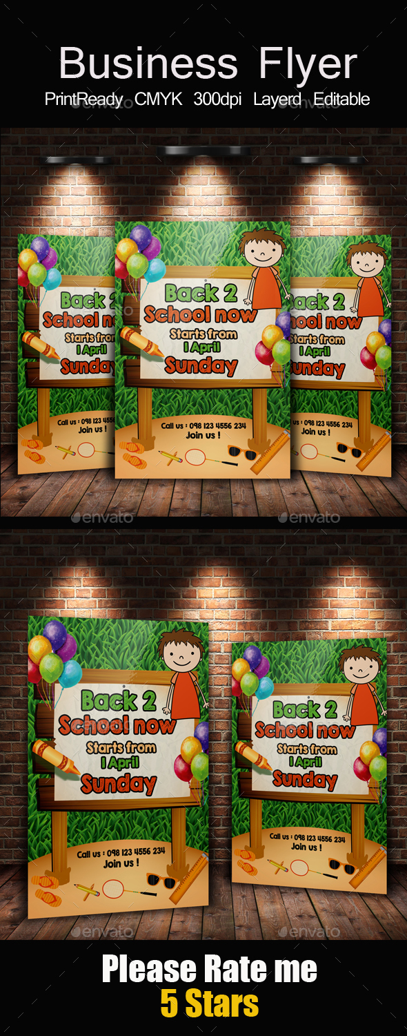 Back to School Flyer Templates - Corporate Flyers