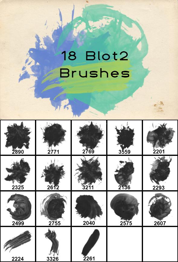 Blot2 Brushes - Grunge Brushes