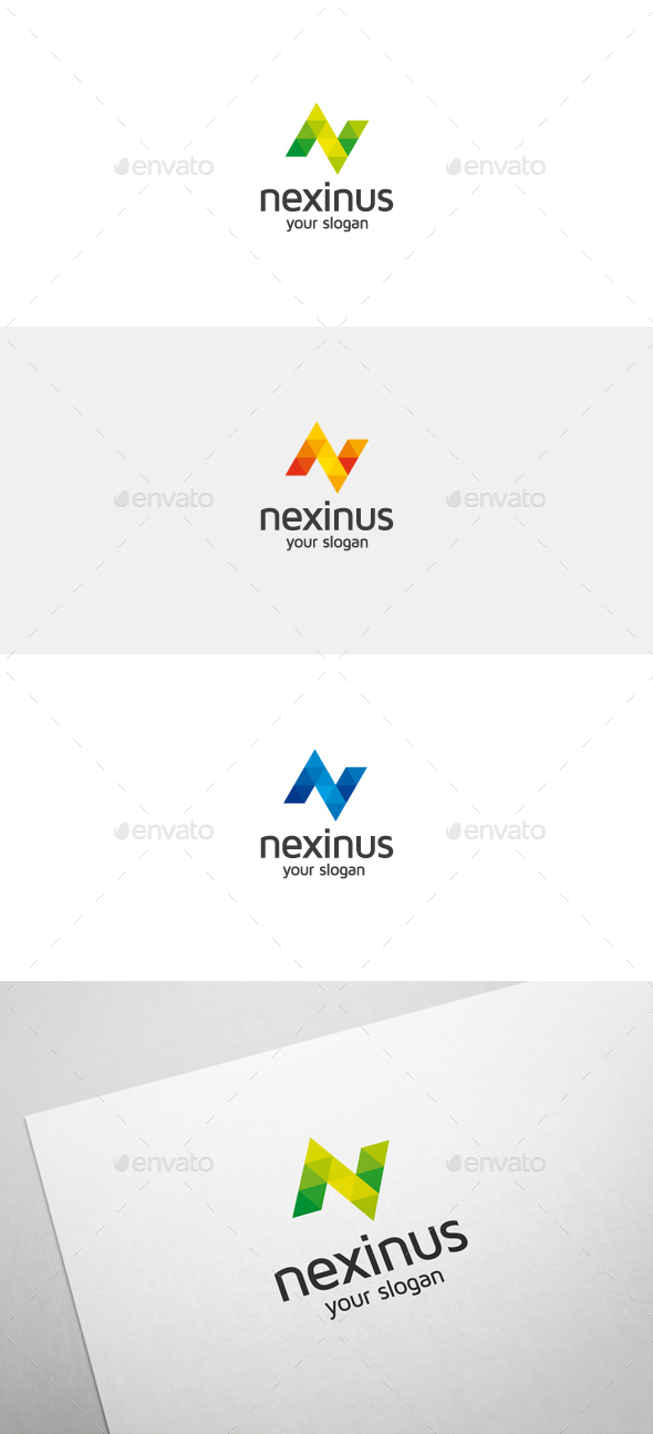 Nexinus n letter logo by flatos graphicriver nexinus n letter logo spiritdancerdesigns Image collections