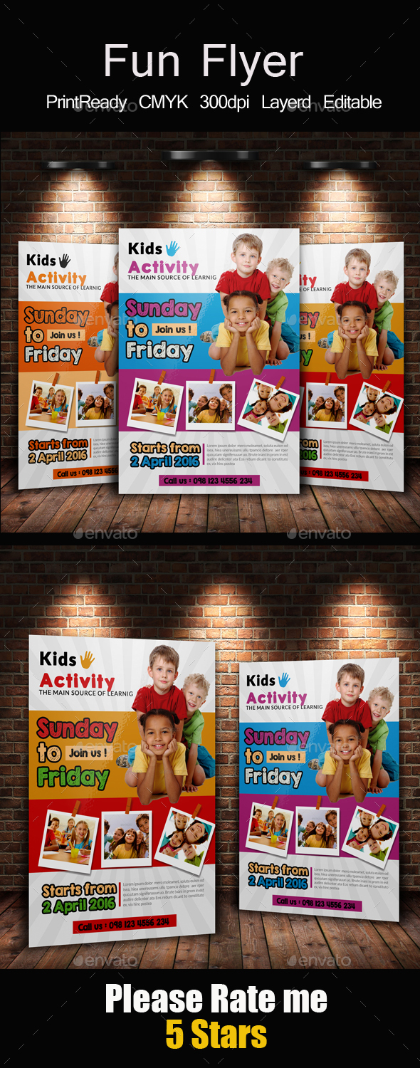 Kids Playgroup Education Flyer - Corporate Flyers