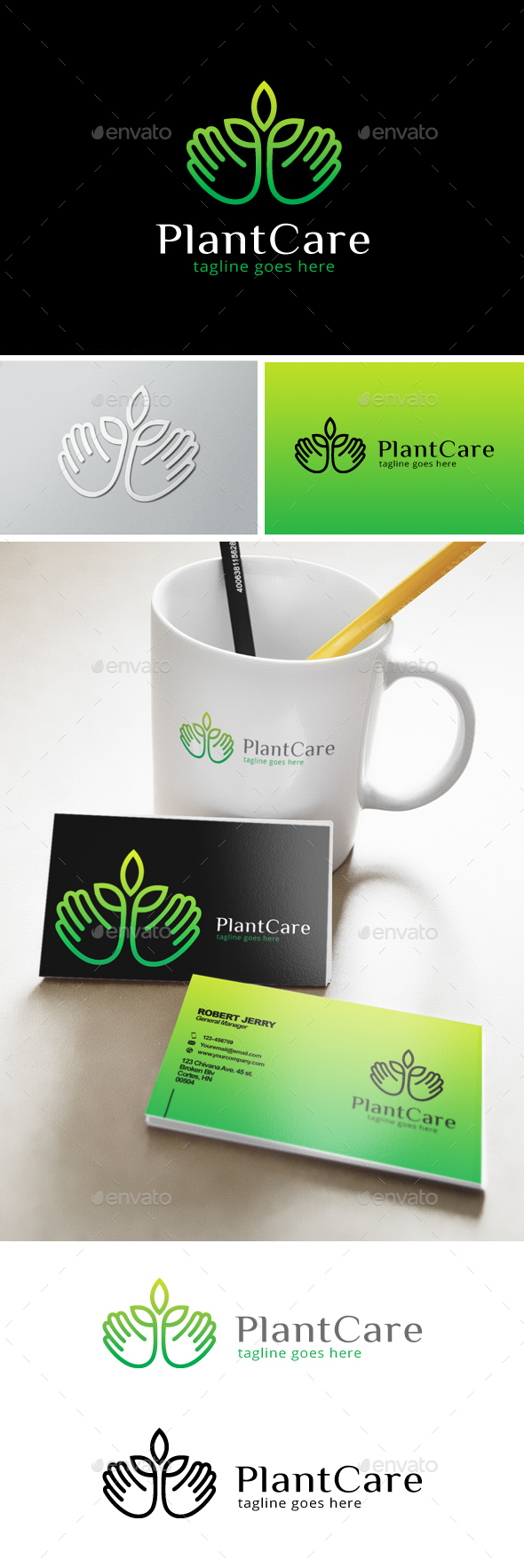 Plant Care Logo - Nature Logo Templates