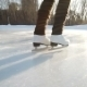 Young Woman Skating On Ice With Figure Skates - VideoHive Item for Sale