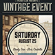 Vintage Event Poster - GraphicRiver Item for Sale