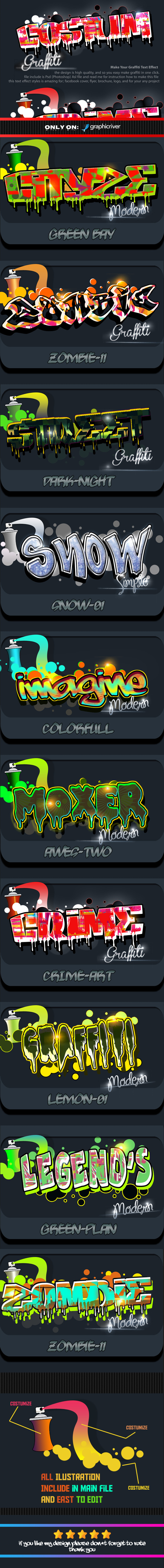 Costum Graffiti Text Effect Styles Vol 2 - Text Effects Styles
