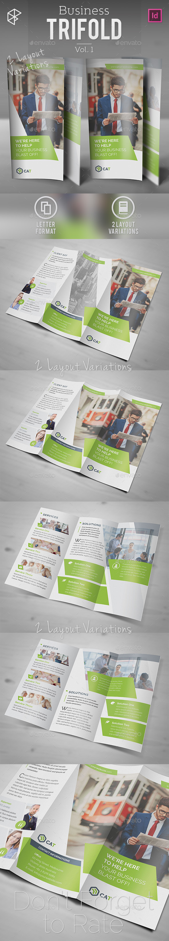Business Trifold Vol. 1 - Corporate Brochures