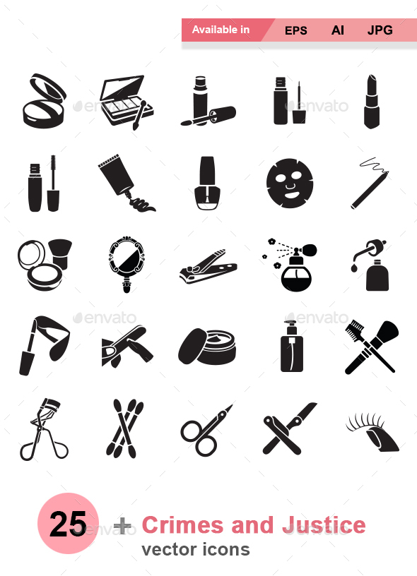 Beauty products vector icons - Man-made objects Objects
