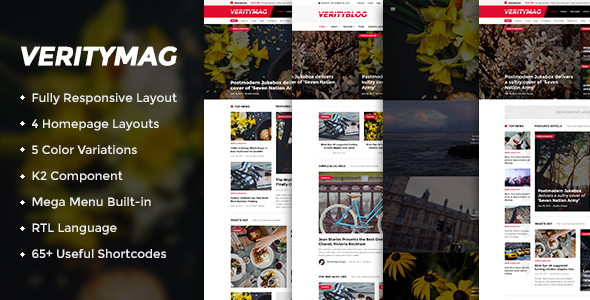VerityMag – Creative News/Magazine Joomla Template