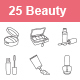 Beauty products outlines vector icons - GraphicRiver Item for Sale