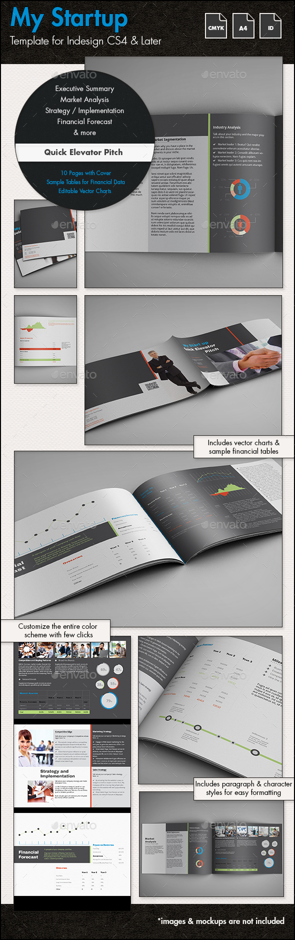 Quick business plan template elevator pitch a4 landscape by quick business plan template elevator pitch a4 landscape proposals invoices stationery accmission Image collections