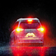 Dramatic Car Drives In Rain With Brake Lights - VideoHive Item for Sale