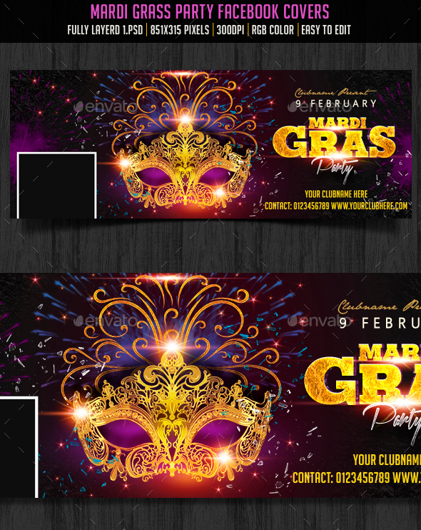 Mardi Gras Party Facebook Cover - Facebook Timeline Covers Social Media