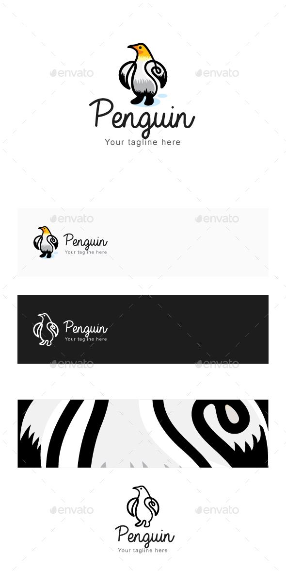Penguin - Continous Line Style Bird Creative Logo Template - Animals Logo Templates