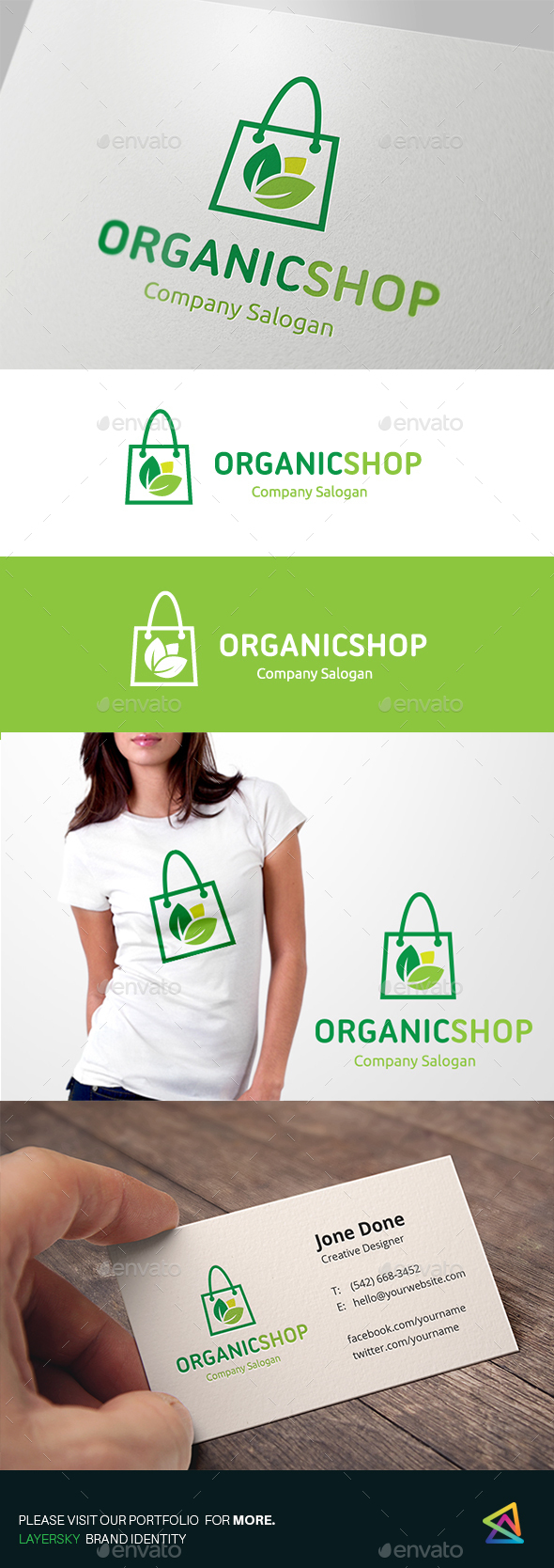 Organic Shop - Nature Logo Templates