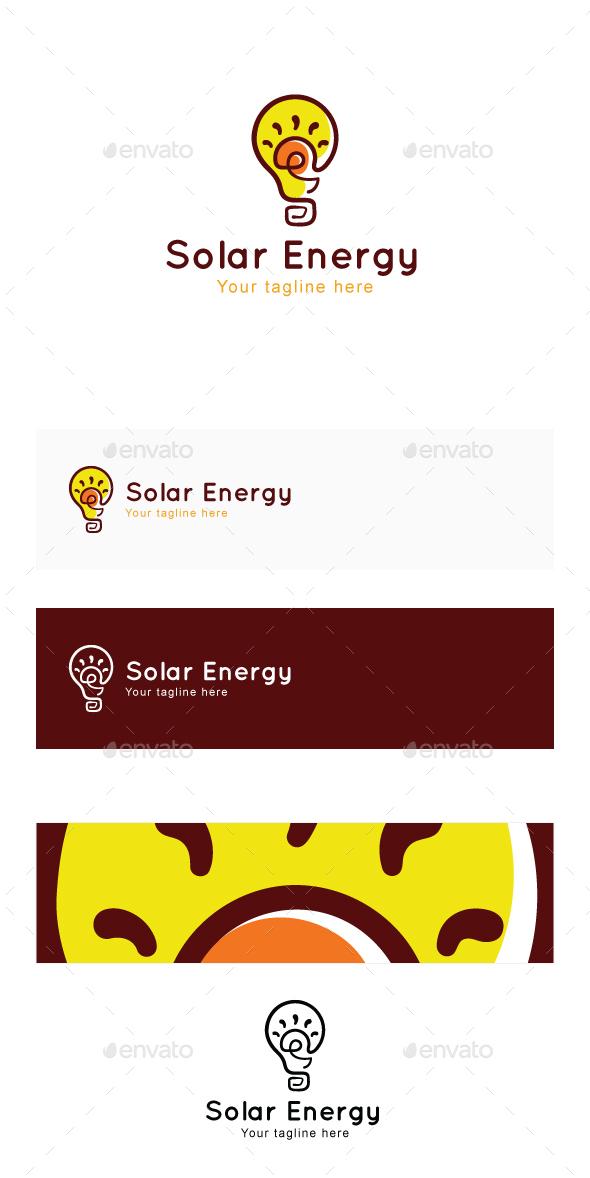 Solar Energy - Power Ideas Objective Stock Logo Template - Abstract Logo Templates