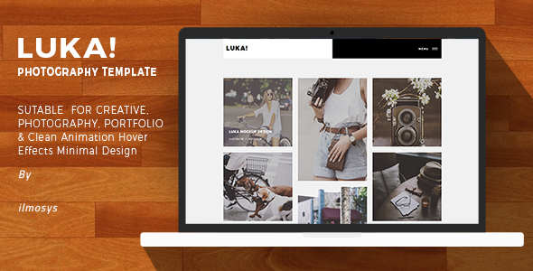 Creative Portfolio Website Template – Luka