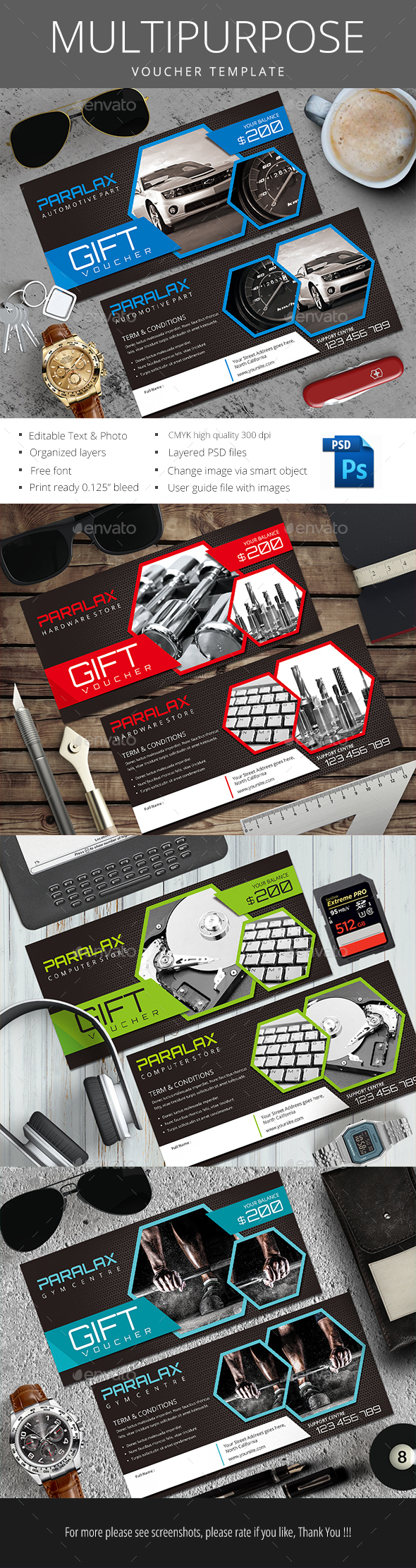 Multi Purpose Gift Voucher - Loyalty Cards Cards & Invites