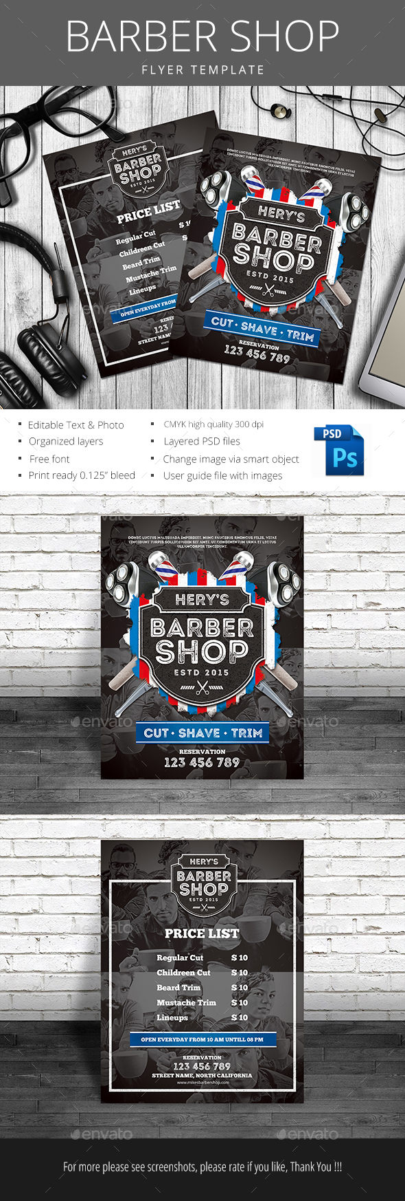 Barber Shop - Flyers Print Templates