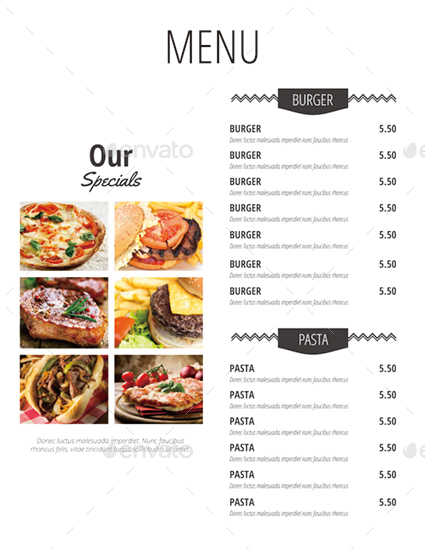 Simple Restaurant Menu by monggokerso | GraphicRiver